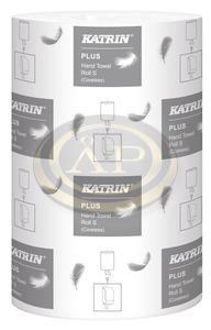 Katrin Plus S2 tekercses kéztörlő, 14cm, 60 méter, 2 rétegű, hófehér, 100% cellulóz, 2634