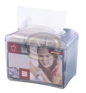 Katrin Resta mini szalvétaadagoló, átlátszó ABS műanyag, H2-H3 rendszerhez