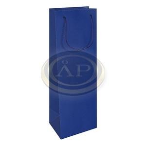 Dísztasak italokhoz, 12x37 cm matt kék