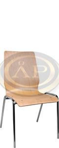 Konyhai szék, 1158LC krómozott acél váz, bükk rétegelt falemez palást