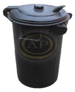 Háztartási kuka 110 L fekete, műanyag