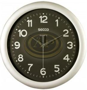 Falióra Secco 30cm ezüst keret / fekete számlap
