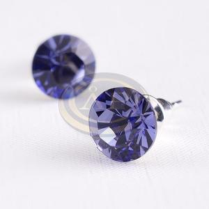 Swarovski kristályos fülbevaló lila kővel