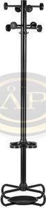 Fogas, álló, fekete fém, 176cm