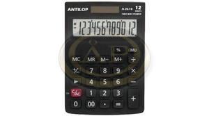 Számológép Antilop A1200, 12 digites, fekete