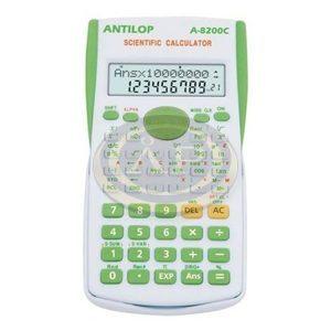 ANTILOP 8200C tudományos számológép. 2 soros kijelző 240 funkcióval zöld