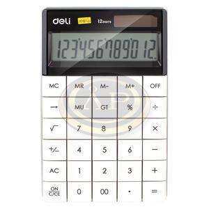 Deli 01589 számológép asztali 12 digit,, fehér