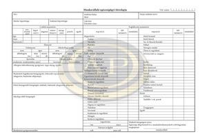 Pátria Munkavállalók egészségügyi törzslapja B.3161-4/UJ