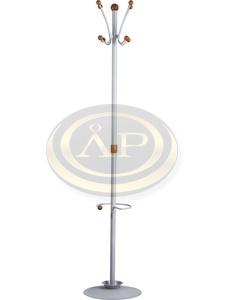 Orion fém fogas, ezüst színű, 5 db fa gombbal, 180 cm