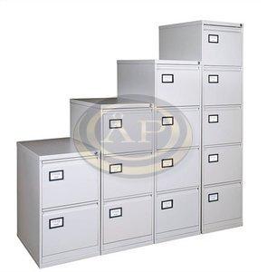 Függőmappatároló-szekrény, 2 fiókos, szürke