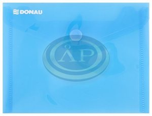 Irattartó tasak Donau A6 PP patentos kék