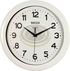 Falióra, 30 cm, SECCO fehér keret és számlap, fekete szám