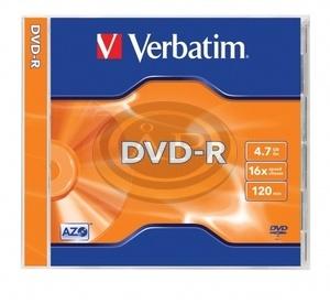 Verbatim DVD-R 16x, normál tokban (AZO)