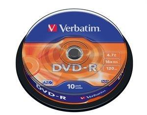 Verbatim DVD-R 16x, 10db/henger (AZO)