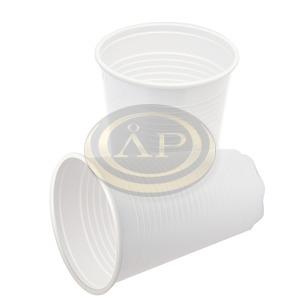 Pohár műanyag 2 dl fehér 100db/csomag