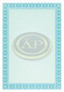 Oklevélpapír APLI, türkizkék, 10ív/csomag