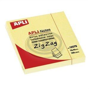 Öntapadós jegyzettömb Apli, ''Z'' 75x75mm sárga, 100lap