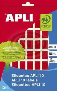 Apli 12 x 18 mm kézzel írható, piros etikett, 448 etikett/csomag 448db/CSM