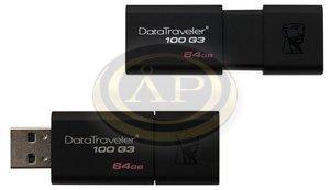 Pendrive Kingston DT100 G3, 64GB, USB 3.0, fekete