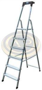 Lépcsőfokos alumínium állólétra 5 fokkal Krause Safety
