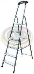 Lépcsőfokos alumínium állólétra 6 fokkal Krause Safety