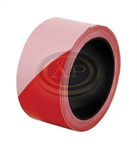 3M/Scotch Piros-fehér csíkos PVC jelzőszalag (nem ragasztós!) 50cmx100m